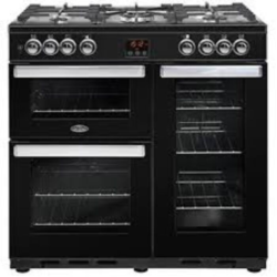 Belling 90DFTBLK Cookcentre 90cm Black Dual fuel