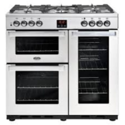Belling 90DFTPROFSTA 90cm Cook centre Dual Fuel Stainless