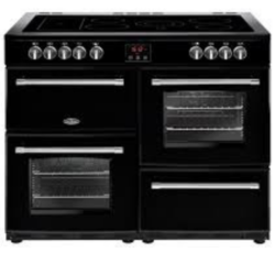 Belling FH110EBK 110cm All electric Farmhouse Range Black
