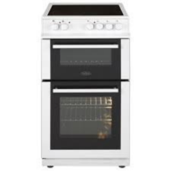 Belling FS50EDOFCWH 50cm Double Ov Ceramic cooker white