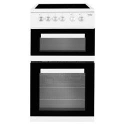 Beko KDVC563AW 50cm Ceramic Fan Double Oven White cooker