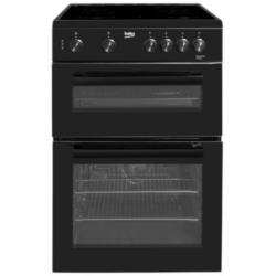 Beko KTC611K Twin Cavity 60cm Ceramic cooker black