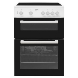 Beko KTC611W 60cm Twin cavity ceramic cooker