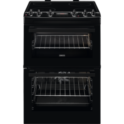 Zanussi ZCV66250BA 60cm Catalytic Liners Black Cooker